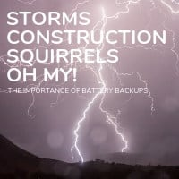 Storms and Construction and Squirrels OH MY!